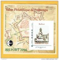 FRANCE BLOC CNEP 2016, Belfort Statue Des Trois Sièges, Salon Printemps 1 Bloc, Neuf / Mint - Monuments