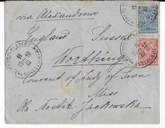 POLOGNE / RUSSIE - 1912 - ENVELOPPE De TERNOPOL (CACHET FERROVIAIRE) => WORTHING (ENGLAND) - Cartas