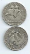 2 MONNAIES  PORTUGAL 2,50 Escudos Argent 1945 Et 1946 Port 1 Euro - Portugal