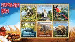 GUINEA 2010 - Tourism, Rhinoceros - YT 4972-7; CV = 15 € - Rhinozerosse