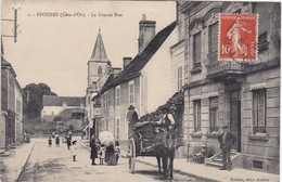 EPOISSES - La Grande Rue - Attelages - Animé - France