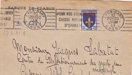 FRANCE - PARTIE DE LETTRE BANQUE DE FRANCE LYON 10 JANV. 49  / 1 - Lettres & Documents