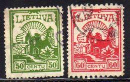 Litauen / Lietuva, 1924,  Mi 241 C/242 D, Gestempelt [251117LAII] - Lituania