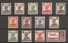 KUWAIT 1945 SET SG 52/63 LIGHTLY MOUNTED MINT Cat £75 - Kuwait