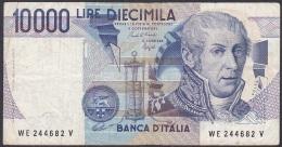 Italy:- 10,000 Lire/P.112b (Ciampi/Speziali):- F - 10000 Lire