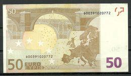 ESTONIA 50 EUR 2002 D-Serie Banknote - EURO