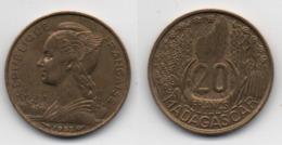 + 20 FRANCS 1953 + - Madagascar