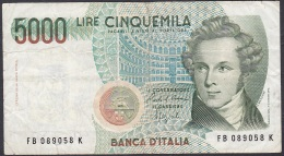 Italy:- 5000 Lire/P.111b (Ciampi/Speziali):- F - [ 2] 1946-… : Républic