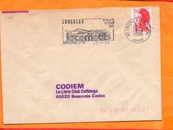 SOMME, Amiens, Flamme SCOTEM N° 7765, Locomotifs, 26 Avril - 12 Mai 1986 - Marcophilie (Lettres)