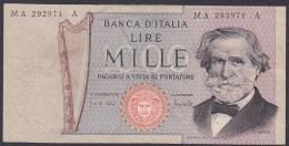 Italy:- 1000 Lire/P.101a (25.03.1969/Carli/Lombardo):- F - [ 2] 1946-… : Republiek