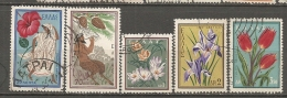 Yv. N° 660 à 667 :  5/8 Valeurs   (o)  Protection Nature  Cote  1,7 Euro  BE - Used Stamps