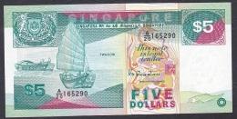 Singapore:- 5 Dollars/P. 19 (1989):- VF+ - Singapore