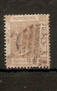HONG KONG 1863 - 1871 2c PALE YELLOWISH BROWN SG 8b WATERMARK CROWN CC  GOOD USED Cat £13 - Hong Kong (...-1997)