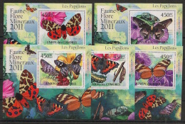 Comores - 2011 - KLB N°Yv. 2140 à 2144 - Papillons - Neuf Luxe ** / MNH / Postfrisch - Schmetterlinge