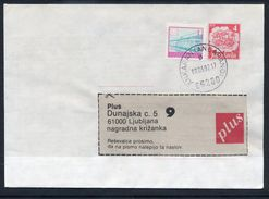 YUGOSLAVIA 1991 Mailcoach 4 D. Stationery Envelope Used With Additional Franking.  Michel U98 - Ganzsachen