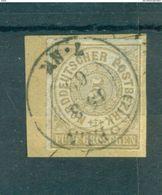 Norddeutscher Postbezirk. Wertziffern In Kreisen, Nr. 6, Stempel Oppeln Auf Briefstück - Norddeutscher Postbezirk
