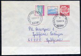 YUGOSLAVIA 1990 Mailcoach 1 D. Stationery Envelope Used With Additional Franking.  Michel U95 - Ganzsachen