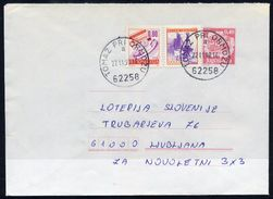 YUGOSLAVIA 1990 Mailcoach 0.40 D. Stationery Envelope Used With Additional Franking.  Michel U94 - Ganzsachen