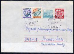 YUGOSLAVIA 1989 Mailcoach 800 D. Envelope Used With Additional Franking.  Michel U91 - Ganzsachen