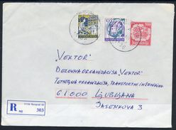 YUGOSLAVIA 1989 Mailcoach 500 D. Envelope Used With Additional Franking.  Michel U90 - Ganzsachen
