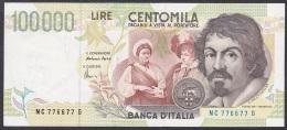 Italy:- 100,000 Lire/P.117b (Fazio/Amici/1994):- VF+ (Radar Serial '776677') - [ 2] 1946-… : Repubblica