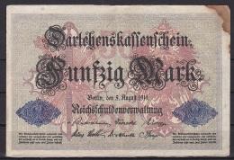 Germany/Empire:- 50 Mark/P.49b (1914/7 Digit Serial):- VG - 1871-1918: Deutsches Kaiserreich