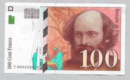 Billet 100 Fr - CEZANNE - - 1987 - Série T - 1992-2000 Dernière Gamme