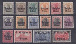 Dt.Bes.1.WK Belgien MiNr. 10-25 * - Bezetting 1914-18