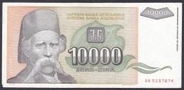 Yugoslavia:- 10,000 Dinara/P.129 (1993):- EF - Yugoslavia