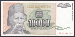 Yugoslavia:- 10,000 Dinara/P.129 (1993):- EF - Joegoslavië