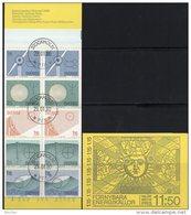 Energie 1980 Schweden 1096/0 HBl.104 Im MH 77 O 4€ Windrad Baum Sonne Welle Collector Se-tenant Booklet Of Sverige - 1951-80
