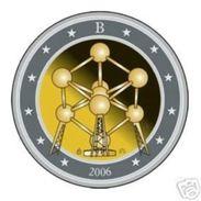 Belgie 2006  2 Euro Commemo  Atomium  UNC Uit De Rol  UNC Du Rouleaux - Belgique