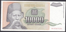 Yugoslavia:- 10,000 Dinara/P.129 (1993):- VF - Jugoslavia