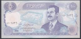 Iraq:- 100 Dinars/P.84a (Diacritacal Mark Above 1st Letter/Flouresces):- UNC - Iraq