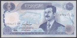 Iraq:- 100 Dinars/P.84b (Diacritacal Mark Below 2nd Letter):- UNC - Iraq