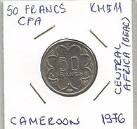B2 Cameroon 50 Francs 1976. KM#11 CFA BAEC - Cameroon