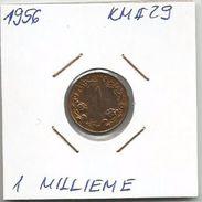 B3 1 Millieme 1956. KM#29 - Sudan