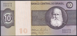 Brazil:- 10 Cruzeiros/P.193e (Signature 20/1980):- VF - Brésil
