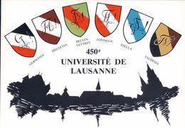 Carte Etudiant, 1987, 450e Université De Lausanne, Armoirie Des Sociétés D'Etudiants (13.6.87) 10x15 - Schools