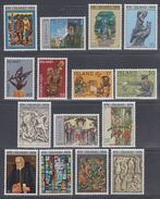 1974 ** Islande (sans Charn., MNH, Postfrish) Complete Yv 438/52  Mi 485/99  FA 522/36  (15v) - Island