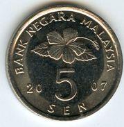 Malaysie Malaysia 5 Sen 2007 KM 50 - Malaysie