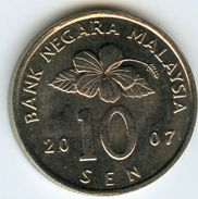 Malaysie Malaysia 10 Sen 2007 KM 51 - Malaysie