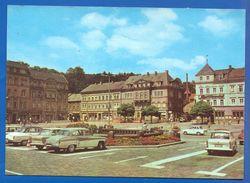 Deutschland; Sebnitz; Markt Mit Auto; Trabant; Wartburg - Sebnitz