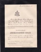 MOMALLE Anne-Marie-Gertrude BERNARD 27 Ans 1888 Faire-part Famille GOFFART - Obituary Notices
