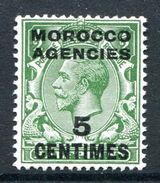 Morocco Agencies - French Currency - 1917-24 KGV GB Overprints (Simple Cypher) - 5c On ½d Green LHM (SG 192) - Uffici In Marocco / Tangeri (…-1958)