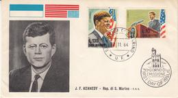 Repubblica Di San Marino J.F. Kennedy 1964 F.D.C. - FDC