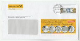 2009 GERMANY Illus ADVERT POSTAL STATIONERY COVER COINS  Coin Stamps - Enveloppes - Oblitérées