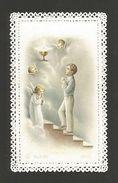 HOLY CARD Vintage Religious Canivet Lace 1st Communion Children Boy Angels Z1 - Unclassified