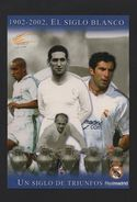 POSTCARD Year 2002 REAL MADRID Soccer SPAIN Football Futbol Calcio Z1 - Unclassified