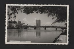 REAL PHOTO 1950/60years RECIFE BRASIL BRAZIL RIO CAPIBARIBE - Unclassified
